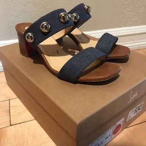 Christian Louboutin Simple Bille 55mm Denim Sandal